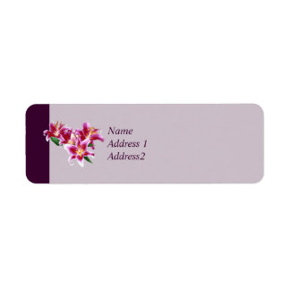 Stargazer Lily Heart Save the Date Label