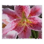 Stargazer Lily in Stained Glass Posters