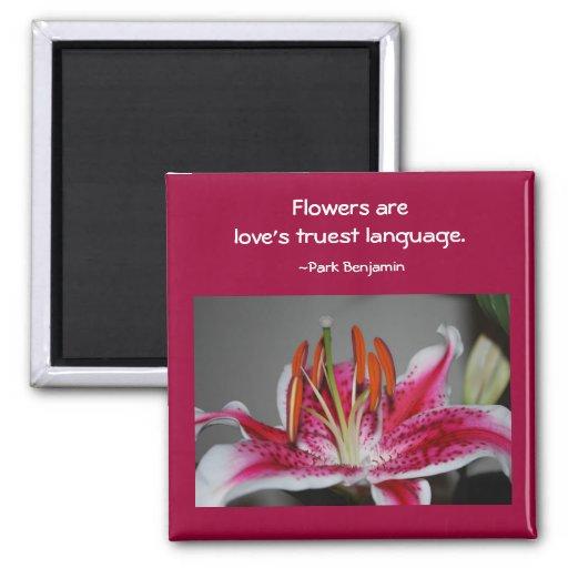 Stargazer Lily Inspirational Magnet