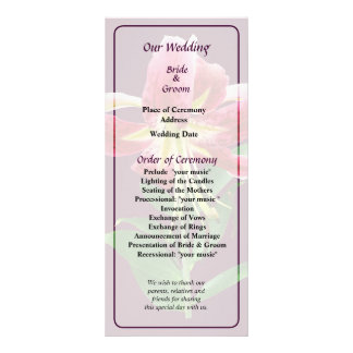 Stargazer Lily Looking Down Wedding Program Personalized Rack Card