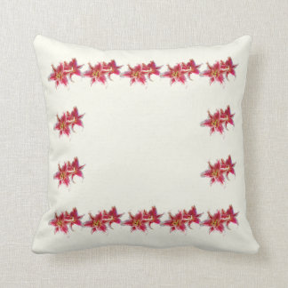 Stargazer Lily Pair Throw Pillow
