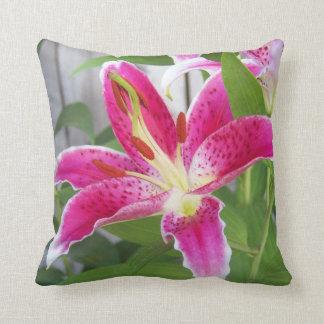 Stargazer Lily Pillow