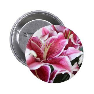 Stargazer Lily Pinback Button