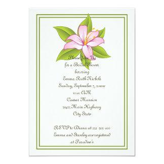 Stargazer lily pink wedding bridal shower invite custom invites