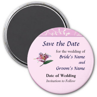 Stargazer Lily Profile Save the Date Magnet