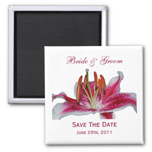 Stargazer Lily Save The Date Magnet