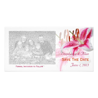 Stargazer Lily Save The Date PhotoCards Photo Card