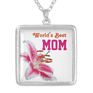 Stargazer Lily Silhouette Mother's Day Necklace