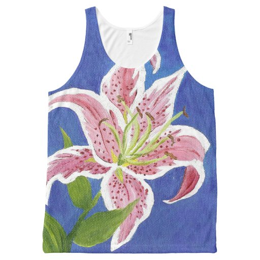 Stargazer Lily Tank Top All-Over Print Tank Top