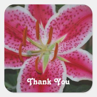 Stargazer Lily Thank You Stickers