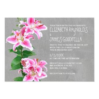 Stargazer Lily Wedding Invitations Custom Invitations