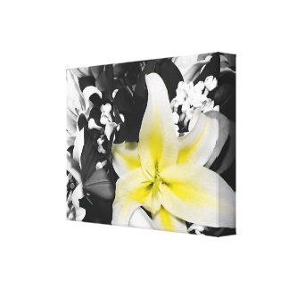 Stargazer Lily wrapped canvas wall art Gallery Wrap Canvas