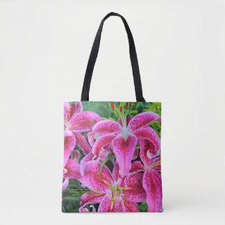 Stargazer Oriental Lilies Tote Bag