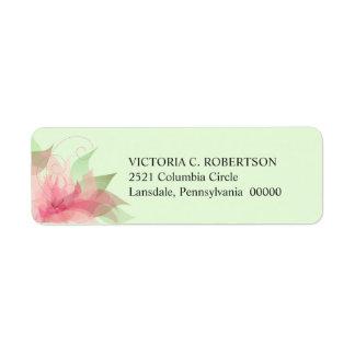 Stargazer Pink & Green Floral Return Address Label