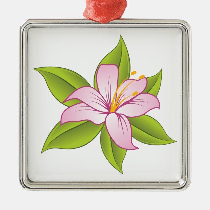 Stargazer pink lily custom ornament