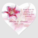 Stargazer Silhouette Heart Thank You Sticker