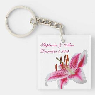 Stargazer Silhouette Wedding Keychain Acrylic Keychain