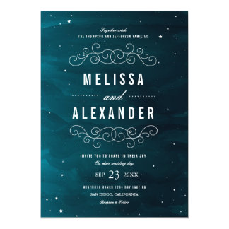 "Stargazer Wedding Invitation 5"" X 7"" Invitation Card"