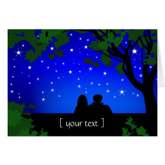 Stargazers Couple Starry Night Greeting Card