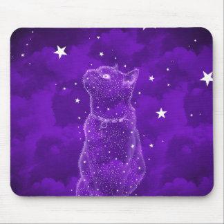Stargazing Cat Mousepad