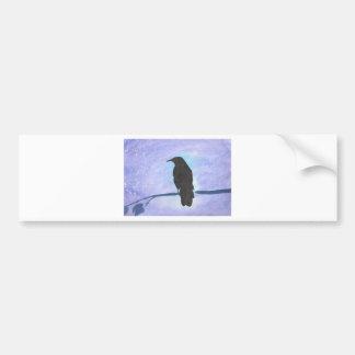 Stargazing Crow Bumper Sticker