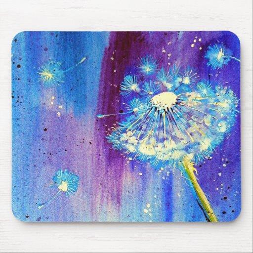 Stargazing Dandelion Mousepad