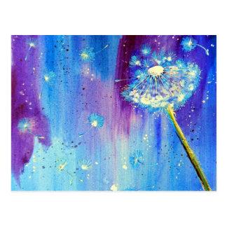 Stargazing Dandelion Postcard