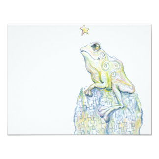Stargazing Frog 4.25x5.5 Paper Invitation Card