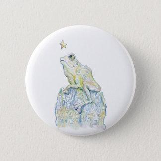 Stargazing Frog Pinback Button