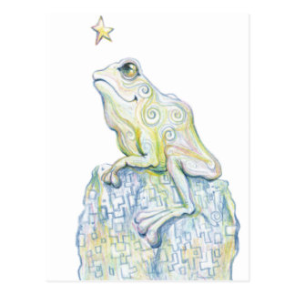 Stargazing Frog Post Card