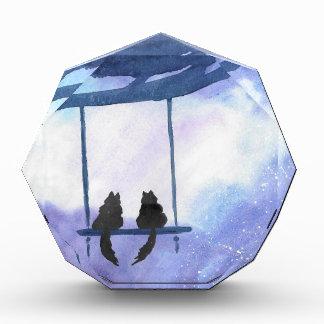 Stargazing Kitties Acrylic Award