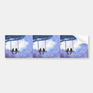 Stargazing Kitties Bumper Sticker