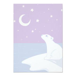 Stargazing Polar Bear Cub Art Card
