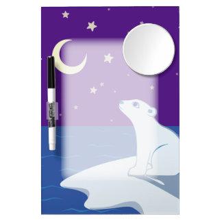 Stargazing Polar Bear Cub Art Dry-Erase Whiteboards