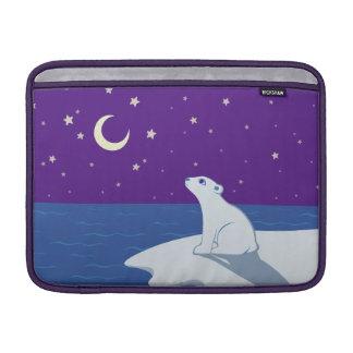 Stargazing Polar Bear Cub Art MacBook Air Sleeves