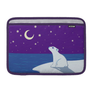 Stargazing Polar Bear Cub Art MacBook Air Sleeve