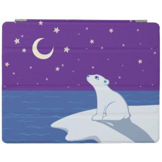 Stargazing Polar Bear Cub Art iPad Smart Cover