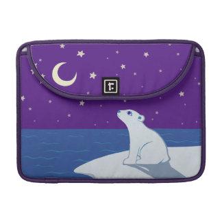 Stargazing Polar Bear Cub Art Sleeve For MacBooks