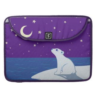 Stargazing Polar Bear Cub Art Sleeves For MacBooks