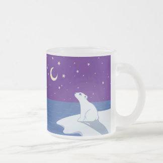 Stargazing Polar Bear Cub Art Mugs