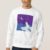 Stargazing Polar Bear Cub Art Sweatshirt