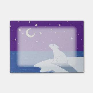 Stargazing Polar Bear Cub Art Post-it® Notes