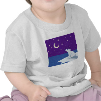Stargazing Polar Bear Cub Art Shirts