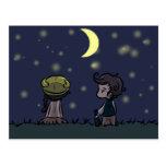 Stargazing postcard