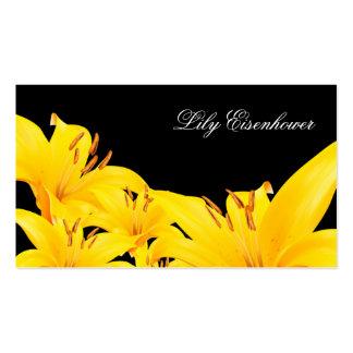 Starglazer Flower Yellow Business Card