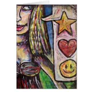 starheartsmileyface tarjeta de felicitación