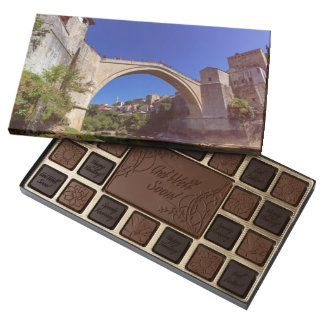 Stari Most, old bridge, Mostar, Bosnia and Herzego 45 Piece Box Of Chocolates