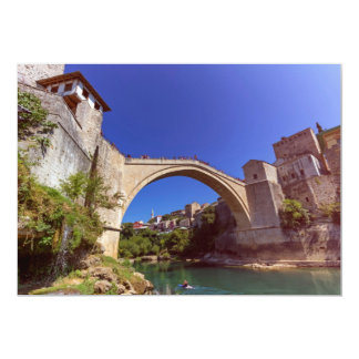 Stari Most, old bridge, Mostar, Bosnia and Herzego Card