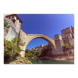 Stari Most, old bridge, Mostar, Bosnia and Herzego Card