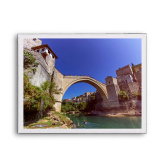 Stari Most, old bridge, Mostar, Bosnia and Herzego Envelope